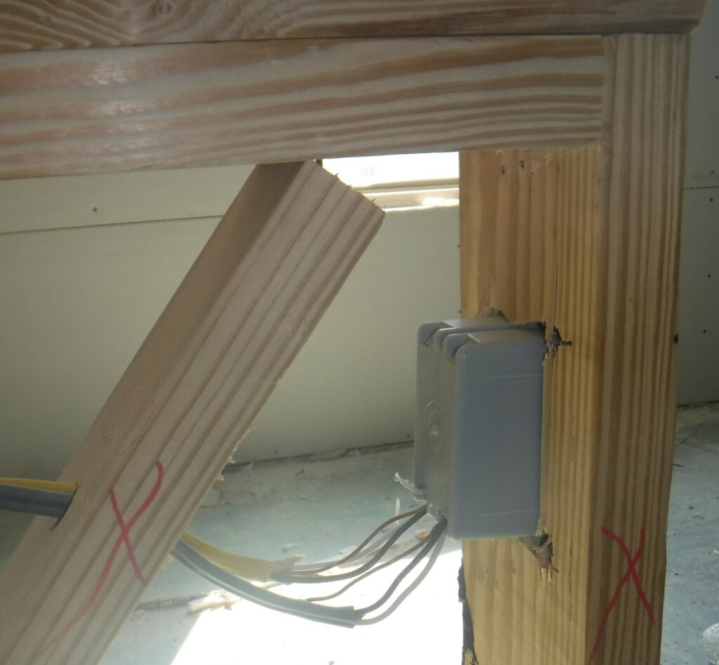 Bad Wiring That Passed A City Inspection And Quality Control Inspection At A Major Builder'S New Home
